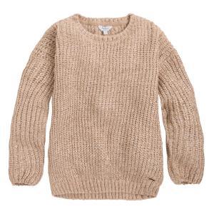 Пуловер с круглым вырезом из тонкого трикотажа PEPE JEANS. Цвет: бежевый перламутровый,желтый