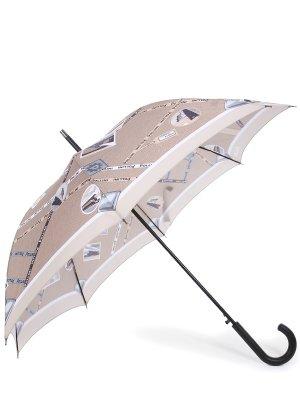 Зонт-трость с принтом POLLINI