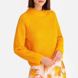 Пуловер с круглым вырезом из оригинального трикотажа COROT SAMSOE AND. Цвет: желтый