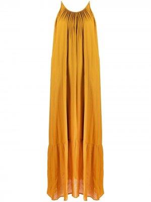 Платье без рукавов 8pm. Цвет: желтый