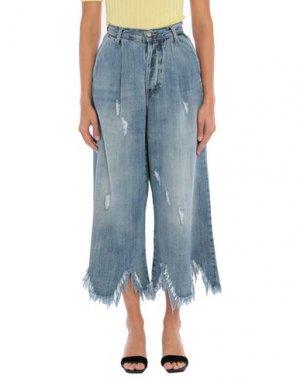 Джинсовые брюки-капри KOSTUMNº1 GENYAL!. Цвет: синий