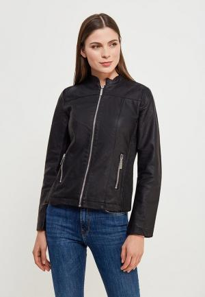 Куртка кожаная Colins Colin's. Цвет: черный