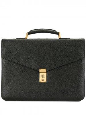 Стеганый портфель Cosmos 1995-го года Chanel Pre-Owned. Цвет: черный