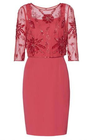Платье и накидка Gina Bacconi. Цвет: розовый