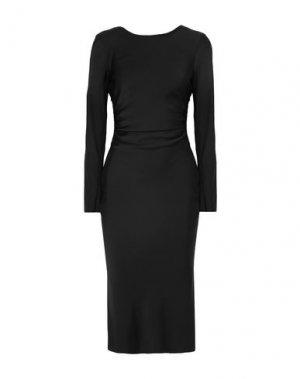 Платье длиной 3/4 BY MALENE BIRGER. Цвет: черный