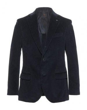 Пиджак MP MASSIMO PIOMBO. Цвет: темно-синий
