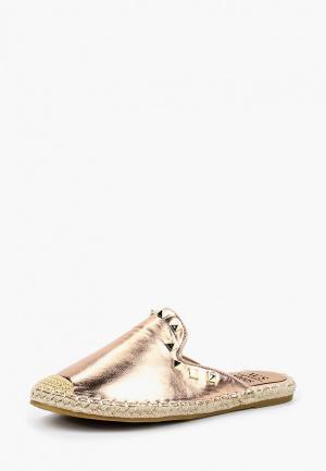 Сабо WS Shoes. Цвет: золотой