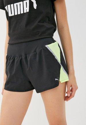 Шорты спортивные PUMA Run Woven 3 Short. Цвет: черный