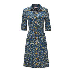 Платье-рубашка с рисунком и застежкой на пуговицы спереди JOE BROWNS. Цвет: синий/рисунок