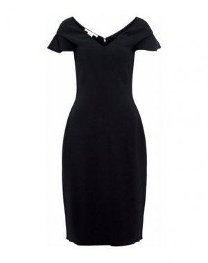 Платье до колена ANTONIO BERARDI. Цвет: черный