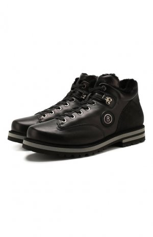 Кожаные ботинки Bogner. Цвет: чёрный