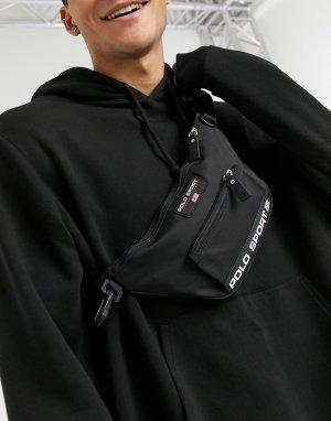 Черная спортивная сумка-кошелек на пояс с логотипом -Черный цвет Polo Ralph Lauren