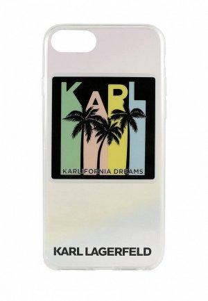 Чехол для iPhone Karl Lagerfeld 8 / SE 2020, TPU collection Kalifornia Dreams Iridescent. Цвет: разноцветный