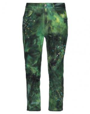 Джинсовые брюки-капри MARANI JEANS. Цвет: зеленый