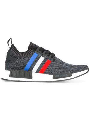 Кроссовки NMD_R1 Primeknit adidas. Цвет: серый
