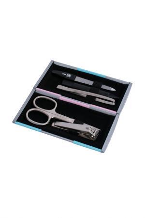 Маникюрный набор, 5 пр YES. Цвет: серый, бирюзовый, розовый