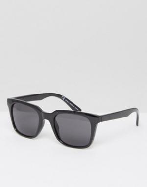 Солнцезащитные очки в квадратной оправе Gate-Черный Weekday