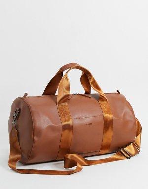Спортивная сумка из искусственной кожи -Коричневый цвет Fenton