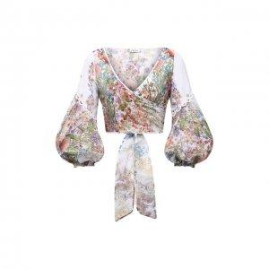 Хлопковая блуза Charo Ruiz Ibiza. Цвет: разноцветный