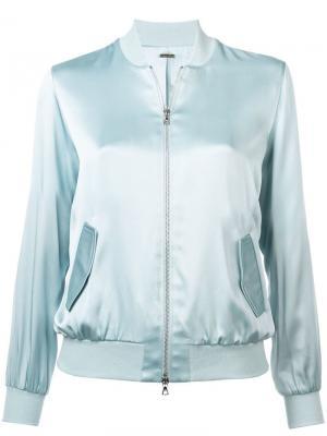Куртка-бомбер с застежкой на молнии Adam Lippes. Цвет: синий