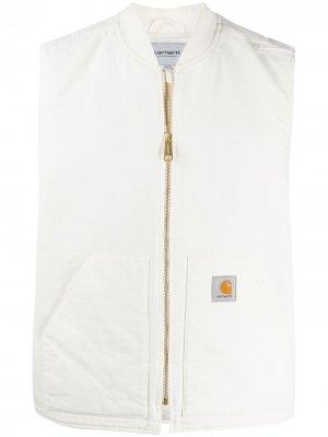 Жилет на молнии с нашивкой-логотипом Carhartt WIP. Цвет: белый