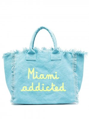 Пляжная сумка Miami Addicted Mc2 Saint Barth. Цвет: синий