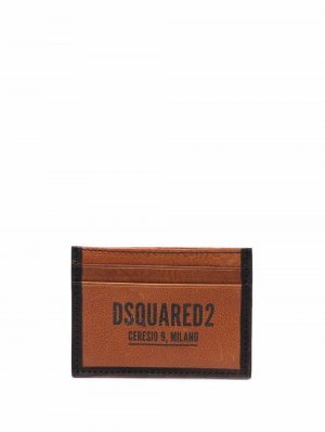 Картхолдер с логотипом Dsquared2. Цвет: коричневый