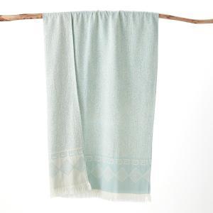 Полотенце пляжное FOSCATI LA REDOUTE INTERIEURS. Цвет: бледно-зеленый,желтый,коралловый,серый
