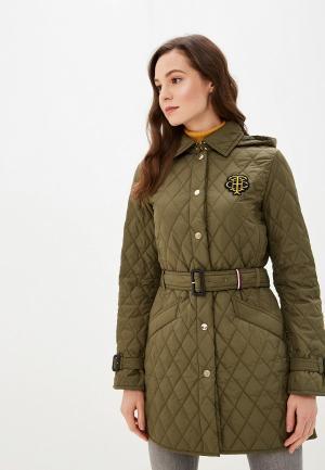 Куртка утепленная Tommy Hilfiger. Цвет: хаки