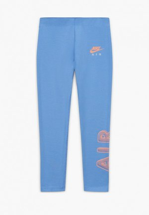 Леггинсы Nike. Цвет: голубой
