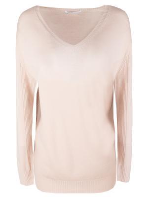 Шерстяной пуловер AGNONA. Цвет: розовый