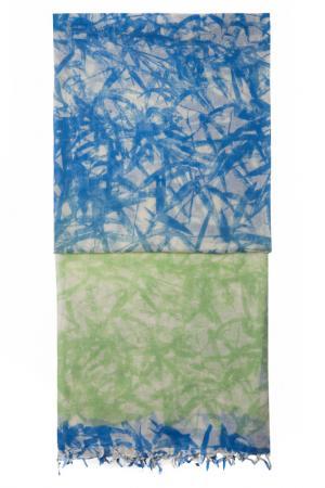 Палантин Michel Katana. Цвет: зеленый, синий, бежевый