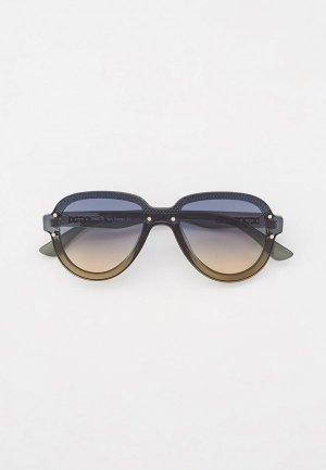 Очки солнцезащитные Fabretti. Цвет: зеленый
