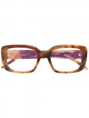 Очки в прямоугольной оправе Pomellato Eyewear. Цвет: коричневый