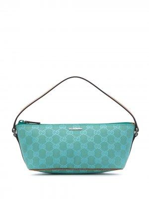 Сумка-тоут с монограммой GG Gucci Pre-Owned. Цвет: зеленый