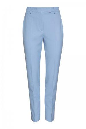 Зауженные базовые брюки VASSA&Co. Цвет: голубой