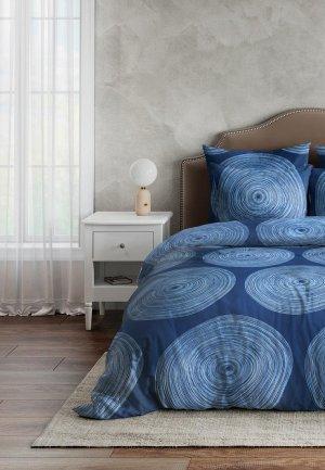 Постельное белье 2-спальное Ночь нежна Инфинити. Цвет: синий