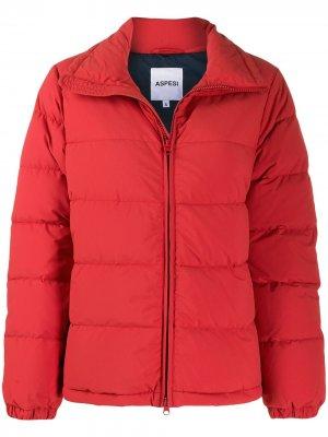 Куртка-пуховик Aspesi. Цвет: красный