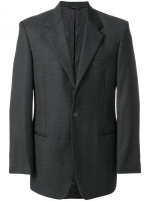 Классический пиджак Versace Pre-Owned. Цвет: серый