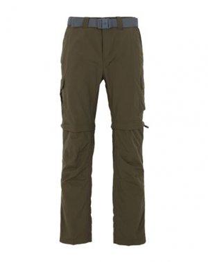 Повседневные брюки COLUMBIA. Цвет: зеленый-милитари