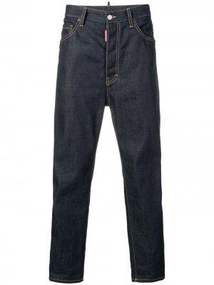 Расклешенные джинсы с высокой талией Dsquared2. Цвет: синий