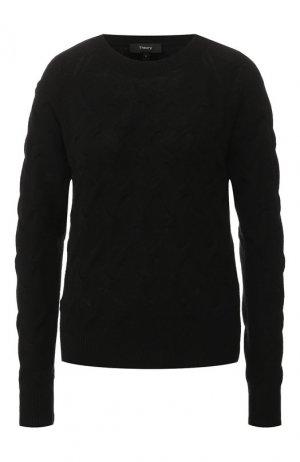 Кашемировый пуловер Theory. Цвет: черный