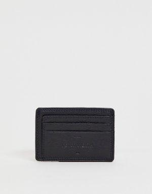 Кожаный кошелек для карт Peter Werth. Цвет: черный