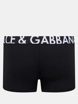 Боксеры D&G Underwear. Цвет: chernyy