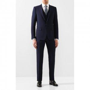 Шерстяной костюм-тройка Dolce & Gabbana. Цвет: синий