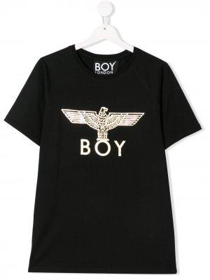 Футболка с логотипом и принтом орла Boy London Kids. Цвет: черный