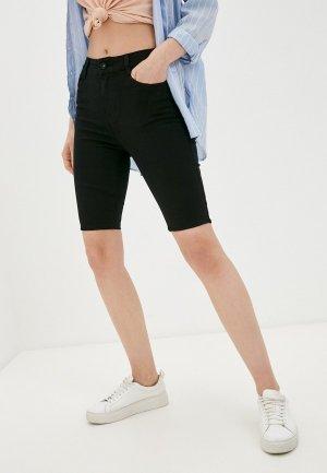 Шорты джинсовые G&G. Цвет: черный