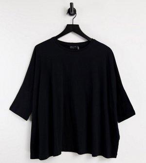 Черная свободная футболка с рукавами летучая мышь ASOS DESIGN Maternity-Черный цвет Maternity
