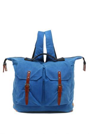 Сумка-рюкзак ALLY CAPELLINO. Цвет: голубой