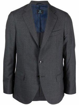 Однобортный пиджак MP Massimo Piombo. Цвет: серый